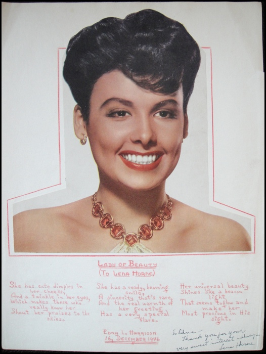 essay on lena horne
